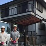 千葉市にて屋根外壁塗装工事着工2棟しました
